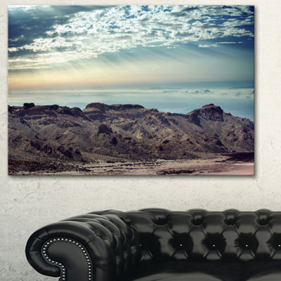 Designart Remote Mountains In Morning ContemporaryCanvas Art Print - 3 Panels