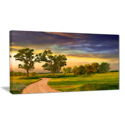 Designart Road To Bliss Landscape Art Print Canvas