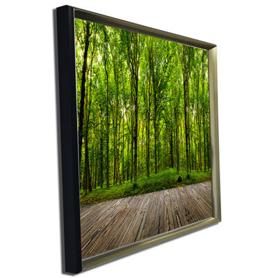 Designart Room Interior In Forest Landscape CanvasArt Print