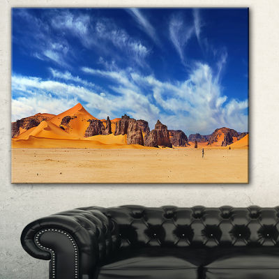 Designart Sahara Desert Panorama Photography Canvas Art Print - 3 Panels
