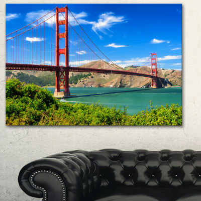 Designart San Francisco Golden Gate Landscape Photography Canvas Print