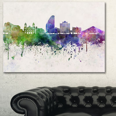 Designart San Jose Skyline Cityscape Canvas Artwork Print - 3 Panels