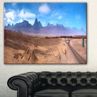 Designart San Pedro De Atacama Chile Panorama Cityscape Canvas Print - 3 Panels 2001SKUS