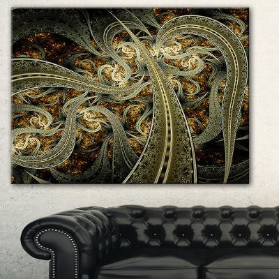 Designart Metallic Fabric Pattern Abstract Print On Canvas