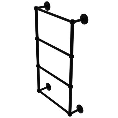 Allied Brass Que New Collection 4 Tier 30 Inch Ladder Towel Bar With Groovy Detail