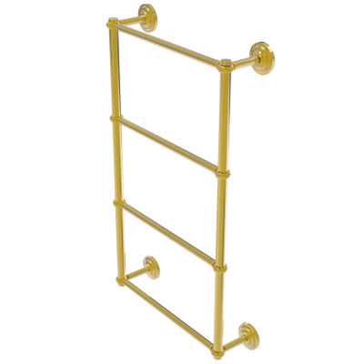 Allied Brass Que New Collection 4 Tier 24 Inch Ladder Towel Bar With Twisted Detail