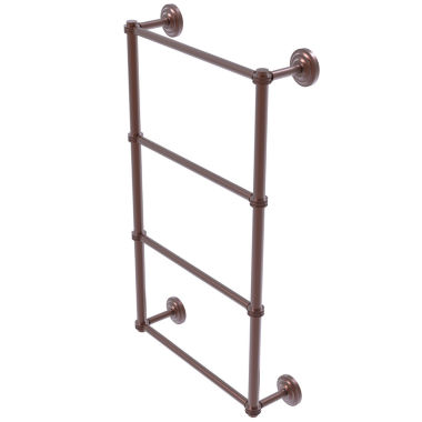 Allied Brass Que New Collection 4 Tier 30 Inch Ladder Towel Bar With Dotted Detail