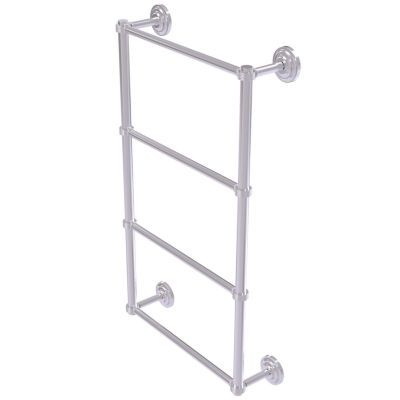 Allied Brass Que New Collection 4 Tier 36 Inch Ladder Towel Bar With Groovy Detail