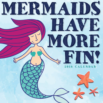 2018 Mermaids Wall Calendar
