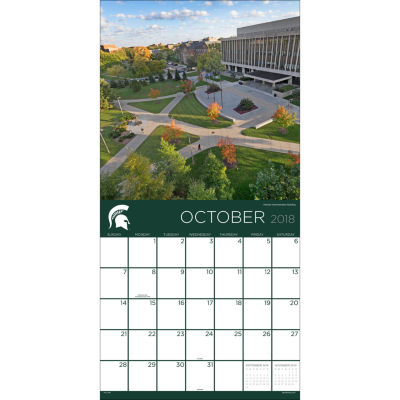 2018 Michigan State University Wall Calendar