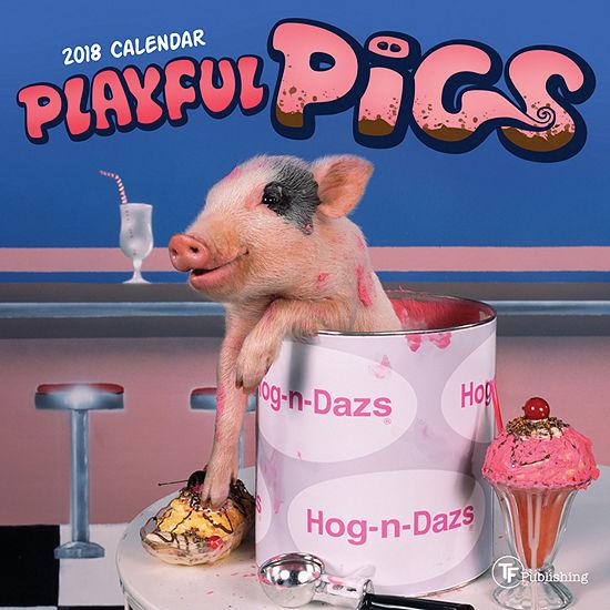 2018 Playful Pigs Mini Calendar