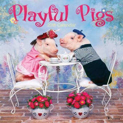 2018 Playful Pigs Wall Calendar