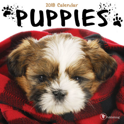 2018 Puppies Mini Calendar
