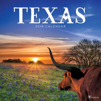 2018 Texas Wall Calendar
