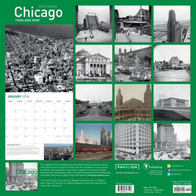 2018 Then and Now - Chicago Wall Calendar