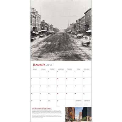 2018 Then and Now - Cleveland Wall Calendar