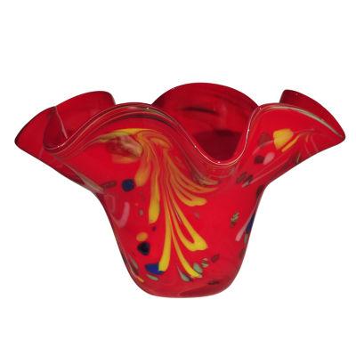 Dale Tiffany Free Leaf Art Glass Bowl