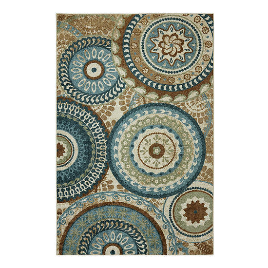 Mohawk Home New Wave Forest Suzani Printed Rectangular Indoor Rugs