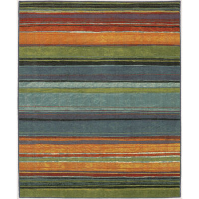 Mohawk Home New Wave Rainbow Printed Round Rugs