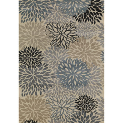 Concord Global Trading Lumina Collection Flowers Area Rug