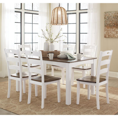 Signature Design by Ashley® Milford 7-Piece Rectangular Dining Set ...