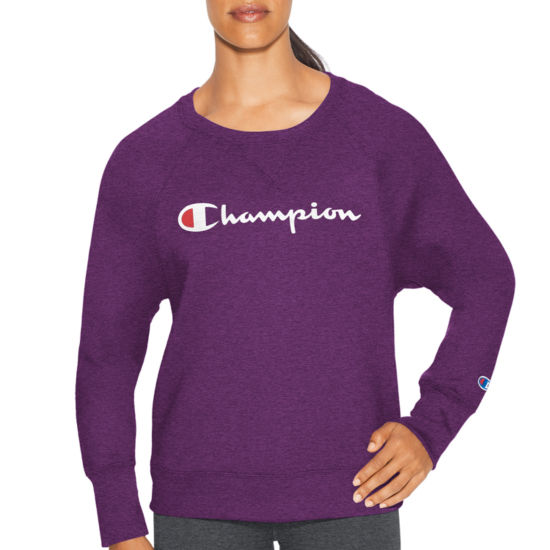 Champion Fleece Bf Crew Graphic Long Sleeve Sweatshirt