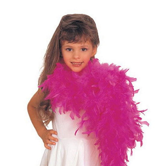 Girls Hot Pink Feather Boa