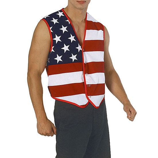 Buyseasons Mens Stars And Stripes American Flag Vest