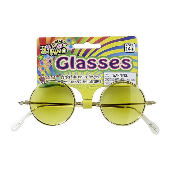 Buyseasons Round Glasses - Yellow Lenses Dress Up Accessory