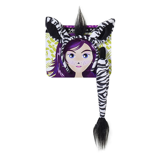 Zebra With Tail Kit Dress Up Costume