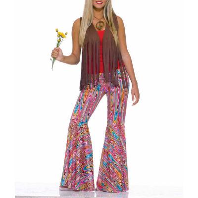 Women's Wild Swirl Bell Bottom Pants Costume