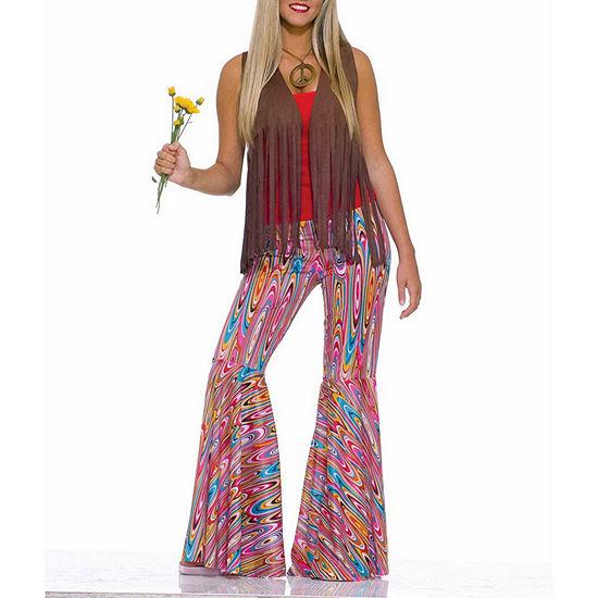 Women's Wild Swirl Bell Bottom Pants Costume - One Size Fits Most