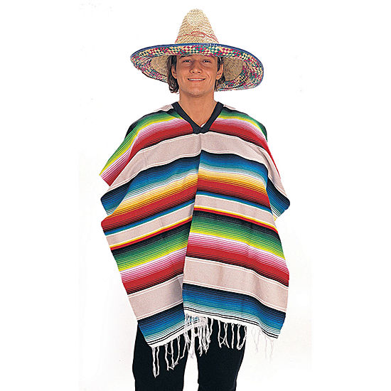 Mexican Adult Poncho Dress Up Costume