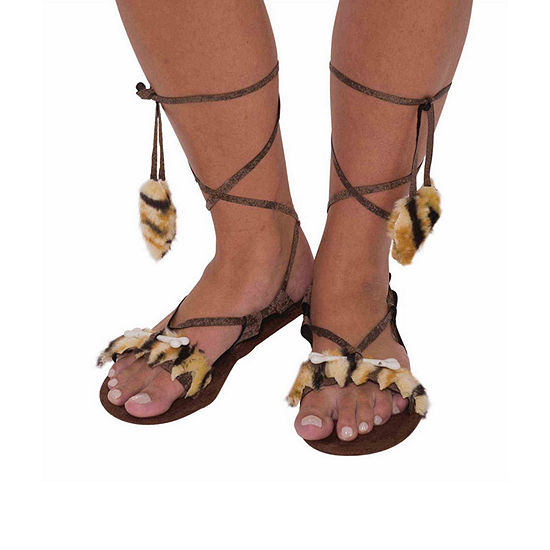 Buyseasons Womens Stone Age Style Sandals 2-pc. Dress Up Accessory