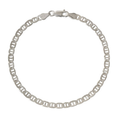 Made in Italy 7.5 Inch Solid Link Chain Bracelet