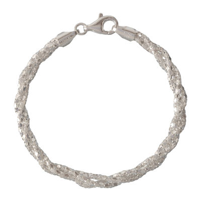 Made in Italy 8 Inch Solid Link Chain Bracelet