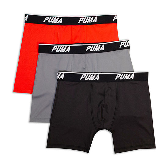 Puma 3 Pair Boxer Briefs