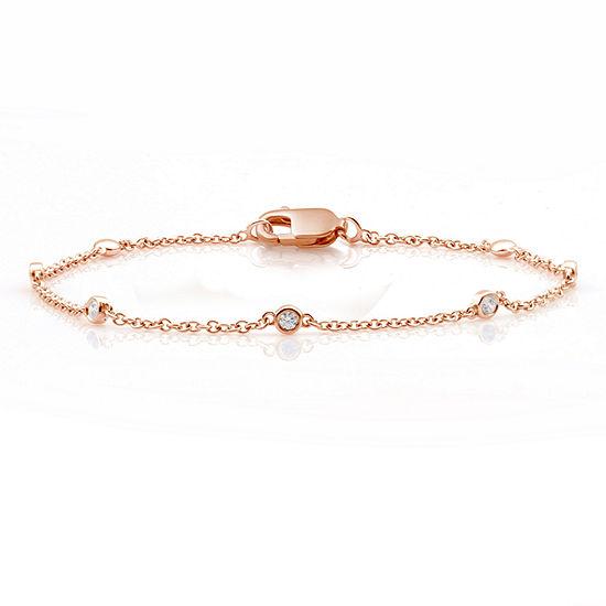 10K Rose Gold 7.5 Inch Solid Link Bracelet