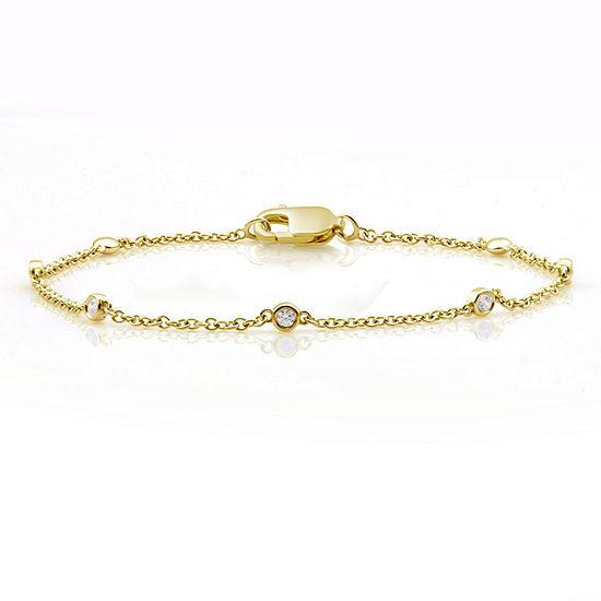 10k Gold 75 Inch Solid Link Bracelet