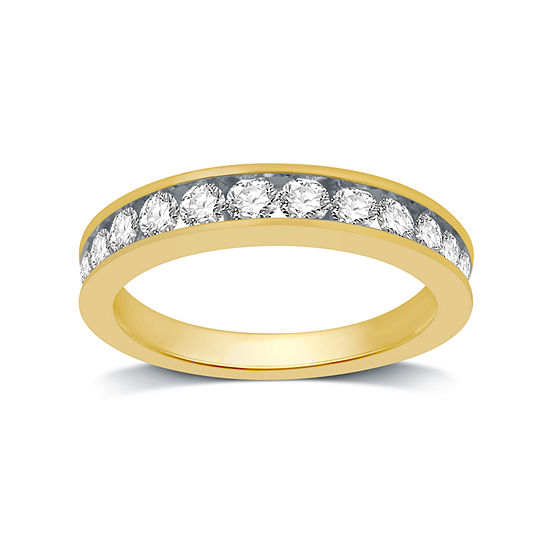 Womens 1 Ct Tw Genuine White Diamond 14k Gold Band