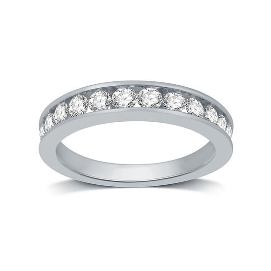 Womens 1 CT. T.W. Genuine White Diamond 14K White Gold Band