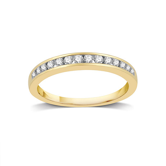 1/4 CT. T.W. Genuine White Diamond 14K Gold Wedding Band