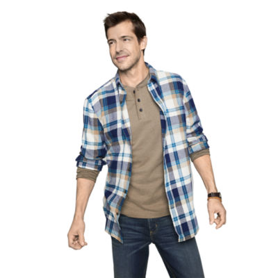 St. John's Bay Long Sleeve Flannel Shirt (Multi Colors)