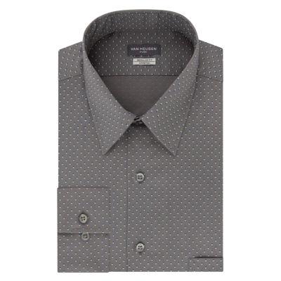 Van Heusen  Flex Stretch Long Sleeve Broadcloth Pattern Dress Shirt -Big and Tall