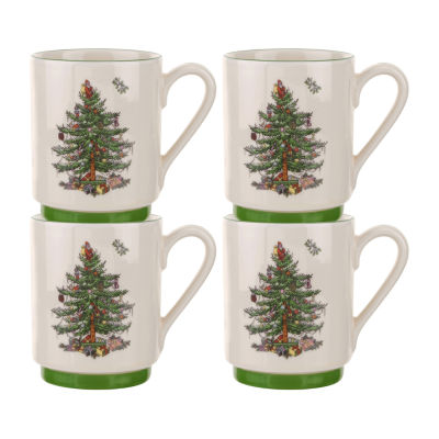 Spode Christmas Tree 4-pc. Coffee Mug