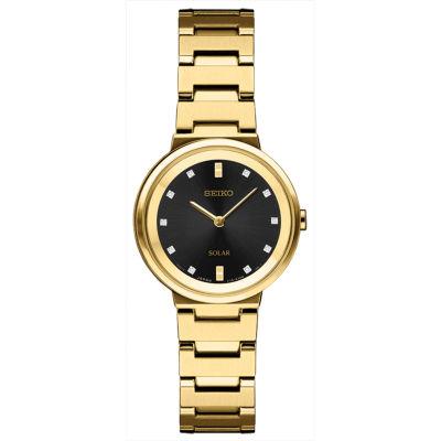 Seiko Womens Gold Tone Bracelet Watch-Sup396