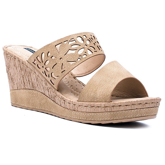 Good Choice By G.C Shoes Womens Marcia Wedge Sandals