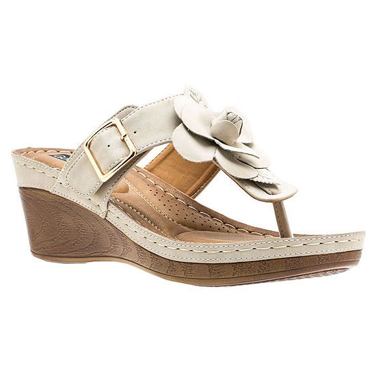 GC Shoes Womens Flora Wedge Sandals