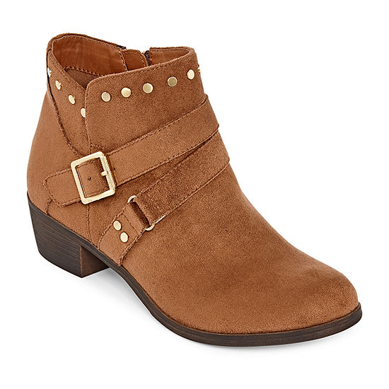 a.n.a Womens Alford Stacked Heel Motorcycle Boots