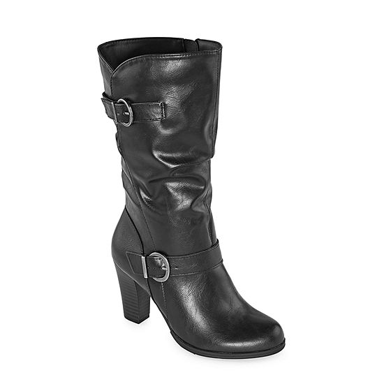 east 5th Womens Nevin Block Heel Slouch Boots